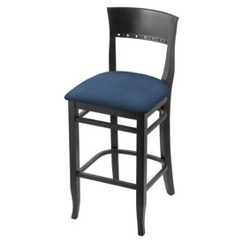 """3160 30"""" Bar Stool with Black Finish and Rein Bay Seat"""