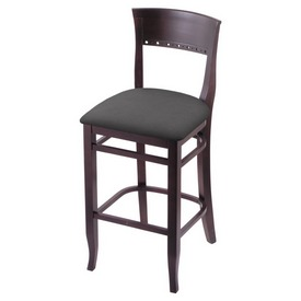 """3160 30"""" Bar Stool with Dark Cherry Finish and Canter Storm Seat"""