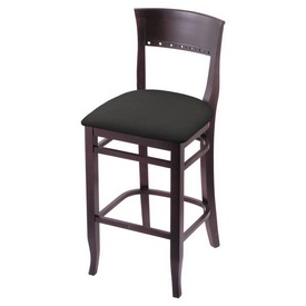 """3160 25"""" Counter Stool with Dark Cherry Finish and Canter Iron Seat"""