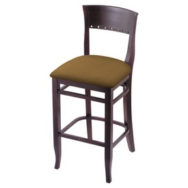 """3160 25"""" Counter Stool with Dark Cherry Finish and Canter Saddle Seat"""