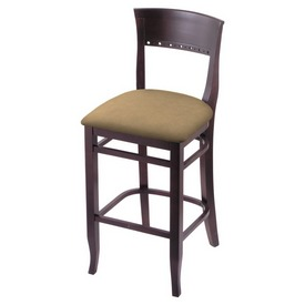 """3160 30"""" Bar Stool with Dark Cherry Finish and Canter Sand Seat"""