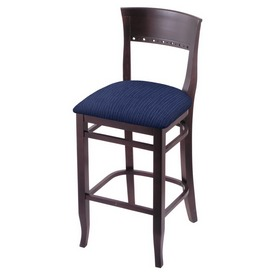 """3160 25"""" Counter Stool with Dark Cherry Finish and Graph Anchor Seat"""