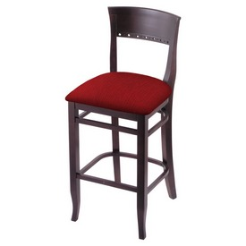 """3160 25"""" Counter Stool with Dark Cherry Finish and Graph Ruby Seat"""