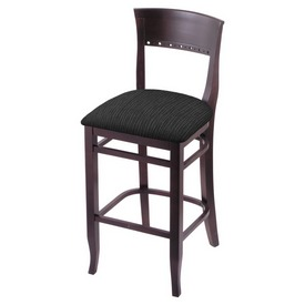 """3160 25"""" Counter Stool with Dark Cherry Finish and Graph Coal Seat"""