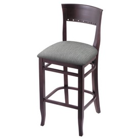 """3160 25"""" Counter Stool with Dark Cherry Finish and Graph Alpine Seat"""