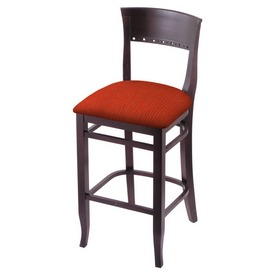 """3160 25"""" Counter Stool with Dark Cherry Finish and Graph Poppy Seat"""