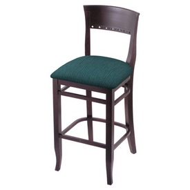 """3160 25"""" Counter Stool with Dark Cherry Finish and Graph Tidal Seat"""