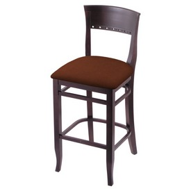 """3160 25"""" Counter Stool with Dark Cherry Finish and Rein Adobe Seat"""