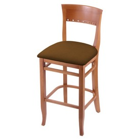 """3160 30"""" Bar Stool with Medium Finish and Canter Thatch Seat"""
