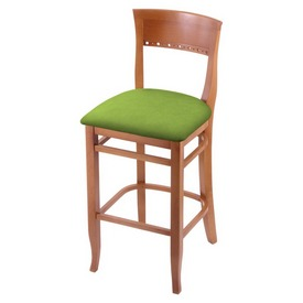 """3160 25"""" Counter Stool with Medium Finish and Canter Kiwi Green Seat"""