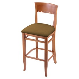 """3160 25"""" Counter Stool with Medium Finish and Canter Saddle Seat"""