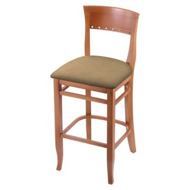 """3160 30"""" Bar Stool with Medium Finish and Canter Sand Seat"""