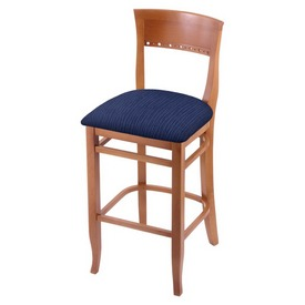 """3160 25"""" Counter Stool with Medium Finish and Graph Anchor Seat"""