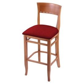 """3160 25"""" Counter Stool with Medium Finish and Graph Ruby Seat"""