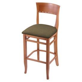 "3160 30"" Bar Stool with Medium Finish and Graph Cork Seat"