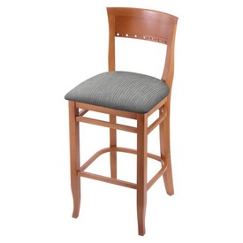 """3160 25"""" Counter Stool with Medium Finish and Graph Alpine Seat"""