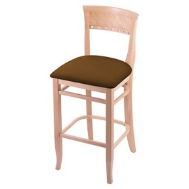 """3160 30"""" Bar Stool with Natural Finish and Canter Thatch Seat"""