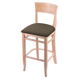 """3160 25"""" Counter Stool with Natural Finish and Canter Earth Seat"""