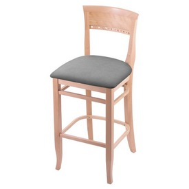 """3160 25"""" Counter Stool with Natural Finish and Canter Folkstone Grey Seat"""
