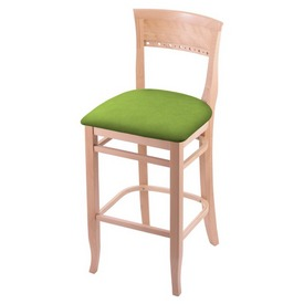 """3160 25"""" Counter Stool with Natural Finish and Canter Kiwi Green Seat"""