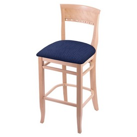 """3160 30"""" Bar Stool with Natural Finish and Graph Anchor Seat"""