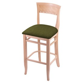 """3160 25"""" Counter Stool with Natural Finish and Graph Parrot Seat"""
