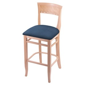 """3160 25"""" Counter Stool with Natural Finish and Rein Bay Seat"""