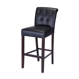 3200 Arie - Parsons Style Stool in Espresso Frame Finish and Black Vinyl Upholstery