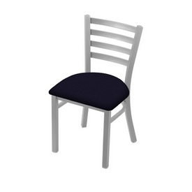 """400 Jackie 18"""" Chair with Anodized Nickel Finish and Canter Twilight Seat"""