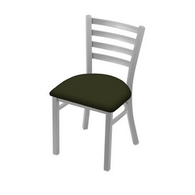 """400 Jackie 18"""" Chair with Anodized Nickel Finish and Canter Pine Seat"""