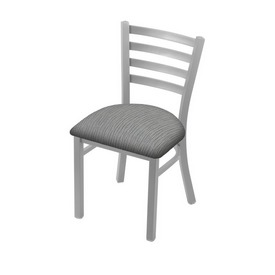 "400 Jackie 18"" Chair with Anodized Nickel Finish and Graph Alpine Seat"