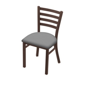 """400 Jackie 18"""" Chair with Bronze Finish and Canter Folkstone Grey Seat"""