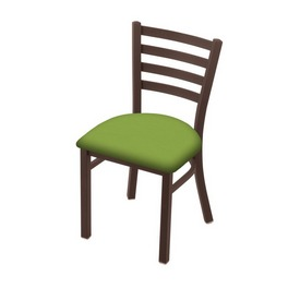"""400 Jackie 18"""" Chair with Bronze Finish and Canter Kiwi Green Seat"""