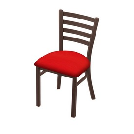 "400 Jackie 18"" Chair with Bronze Finish and Canter Red Seat"