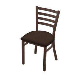 """400 Jackie 18"""" Chair with Bronze Finish and Rein Coffee Seat"""