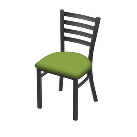"""400 Jackie 18"""" Chair with Pewter Finish and Canter Kiwi Green Seat"""
