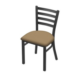 """400 Jackie 18"""" Chair with Pewter Finish and Canter Sand Seat"""