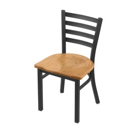 "400 Jackie 18"" Chair with Pewter Finish and Medium Oak Seat"