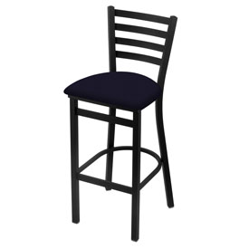 400 Stationary Stool with Black Wrinkle Finish and Canter Twilight Seat