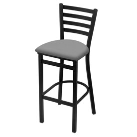 400 Stationary Stool with Black Wrinkle Finish and Canter Folkstone Grey Seat