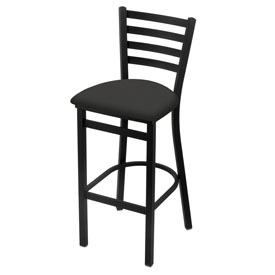 400 Stationary Stool with Black Wrinkle Finish and Canter Iron Seat