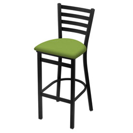 400 Stationary Stool with Black Wrinkle Finish and Canter Kiwi Green Seat
