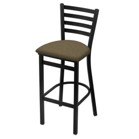 400 Stationary Stool with Black Wrinkle Finish and Graph Cork Seat