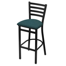 400 Stationary Stool with Black Wrinkle Finish and Graph Tidal Seat