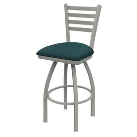 410 Jackie Swivel Stool with Anodized Nickel Finish and Graph Tidal Seat
