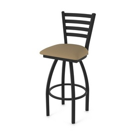 "410 Jackie 36"" Swivel Bar Stool with Black Wrinkle Finish and Canter Thatch Seat"