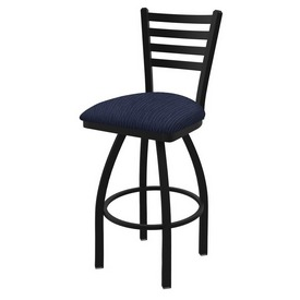 """410 Jackie 36"""" Swivel Bar Stool with Black Wrinkle Finish and Graph Anchor Seat"""