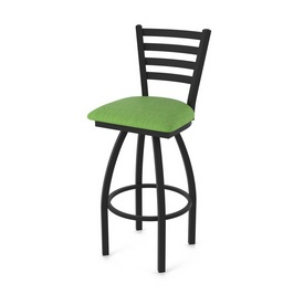 """410 Jackie 36"""" Swivel Bar Stool with Black Wrinkle Finish and Graph Parrot Seat"""