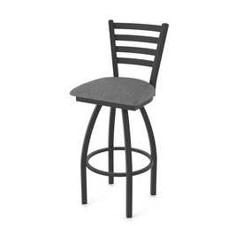 "410 Jackie 36"" Swivel Bar Stool with Black Wrinkle Finish and Graph Coal Seat"