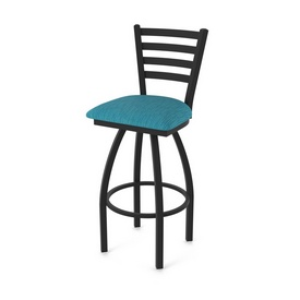 """410 Jackie 36"""" Swivel Bar Stool with Black Wrinkle Finish and Graph Tidal Seat"""